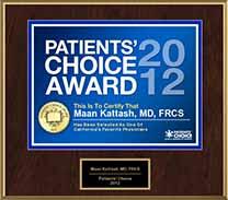 award-Patients-Choice-2012-Dr-Maan-Kattash-plastic-surgeon